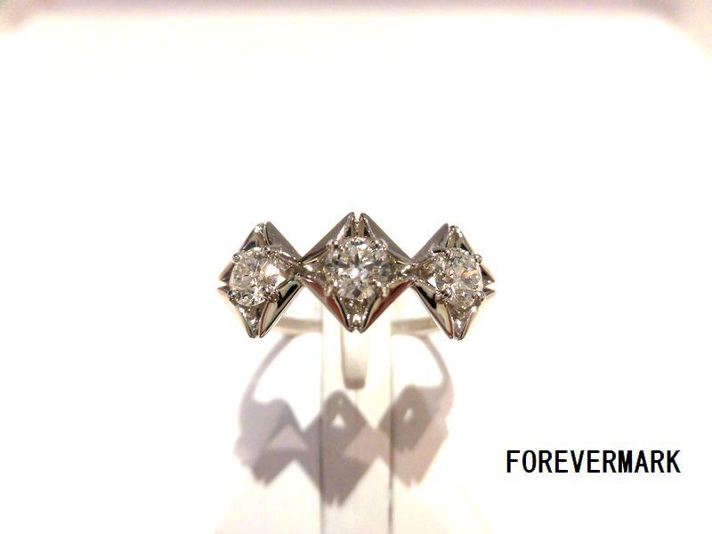 FOREVERMARK/PTダイヤモンドリング/F9306/D0.19ct×3/リング/指輪/ジュエリー/レディース/プレゼント/ギフト/お買い得/オススメ/送料込み/宝石