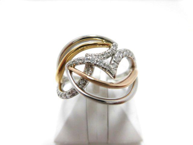 K18YG・PGダイヤモンドリング ピンクゴールド イエローゴールド 0.20ct G1574 リング ジュエリー ダイヤ レディース プレゼント ギフト お買い得 オススメ 送料無料