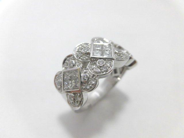 K18WGダイヤモンドリング/ホワイトゴールド/D1.45ct/F9677/リング/指輪/ゆびわ/ring/ジュエリー/女性用/レディース/プレゼント/ギフト/お買い得/オススメ/送料込み/宝石
