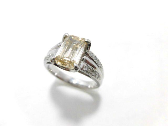 Ptブラウンダイヤモンドリング/D2.03ct 0.15ct/E7785/SI2/リング/指輪/ゆびわ/ring/ジュエリー/女性用/レディース/プレゼント/ギフト/お買い得/オススメ/送料込み/宝石