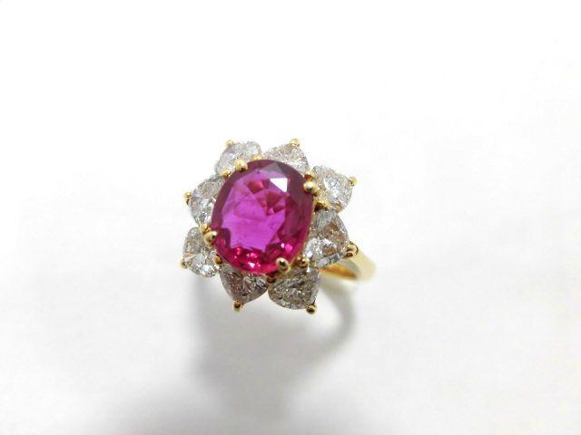 K18ルビーダイヤモンドリング/R1.81ct D1.61ct/E7371/ジュエリー/リング/指輪/女性用/レディース/プレゼント/ギフト/お買い得/オススメ/送料込み/宝石