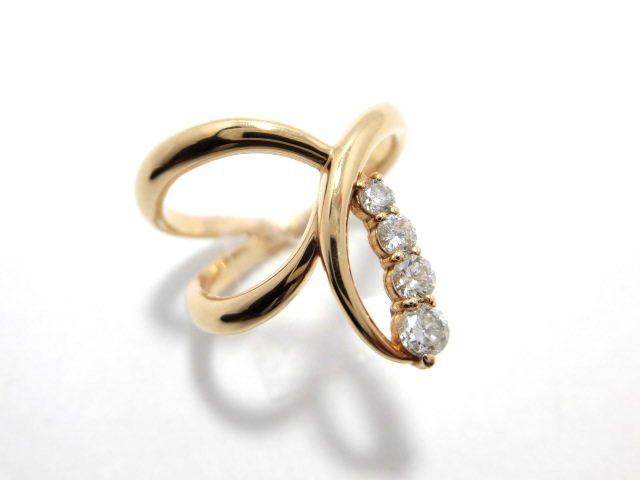 K18PGダイヤリング G1585/D0.30ct/ダイヤモンドリング/指輪/ジュエリー/ダイヤ/女性用/レディース/プレゼント/ギフト/お買い得/オススメ/送料込み/宝石