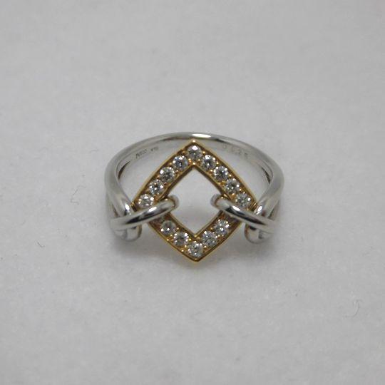 PT/K18ダイヤリング 0.25ct ジュエリー リング 指輪 プレゼント 贈り物 ギフト 女性用 G926