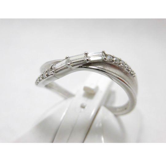 プラチナダイヤリング ダイヤモンド0.13ct 0.08ct ジュエリー リング 指輪 プレゼント 贈り物 ギフト 女性用 G2397