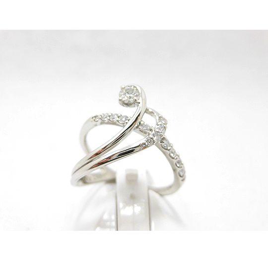 プラチナダイヤリング ダイヤモンド0.24ct 0.17ct ジュエリー リング 指輪 プレゼント 贈り物 ギフト 女性用 G2203