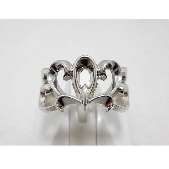 K18ホワイトゴールドリング ジュエリー リング 指輪 プレゼント 贈り物 ギフト 女性用 G34