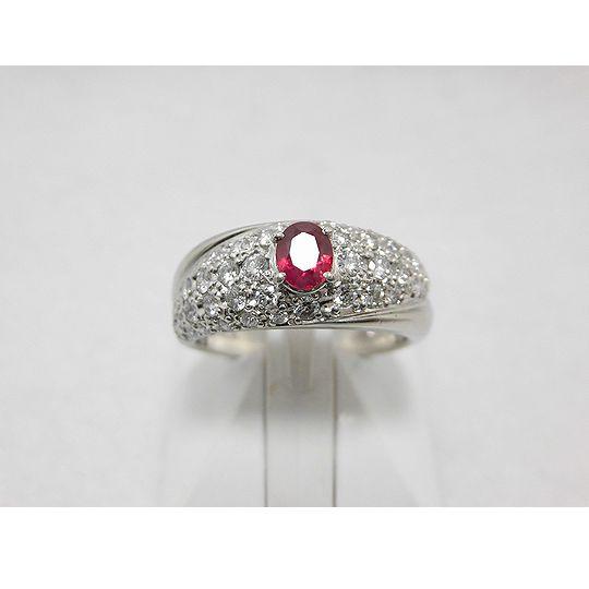 プラチナルビーリング ダイヤモンド ジュエリー リング 指輪 プレゼント 贈り物 ギフト 女性用 G1581