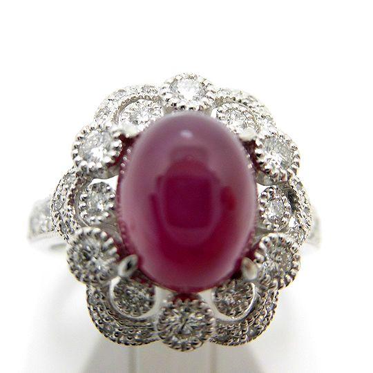プラチナスタールビーリング ダイヤモンド スタールビー ジュエリー リング 指輪 プレゼント 贈り物 ギフト 女性用 G1183