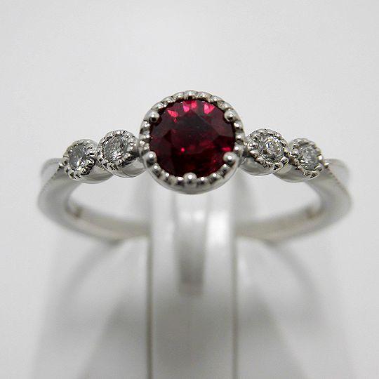 プラチナルビーリング ダイヤモンド ルビー ジュエリー リング 指輪 プレゼント 贈り物 ギフト 女性用 G1848
