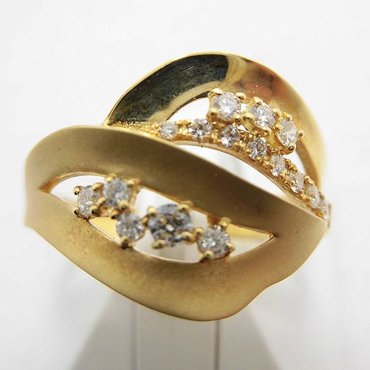 ゴールドリング ダイヤモンド ジュエリー リング 指輪 プレゼント 贈り物 ギフト 女性用 G1794