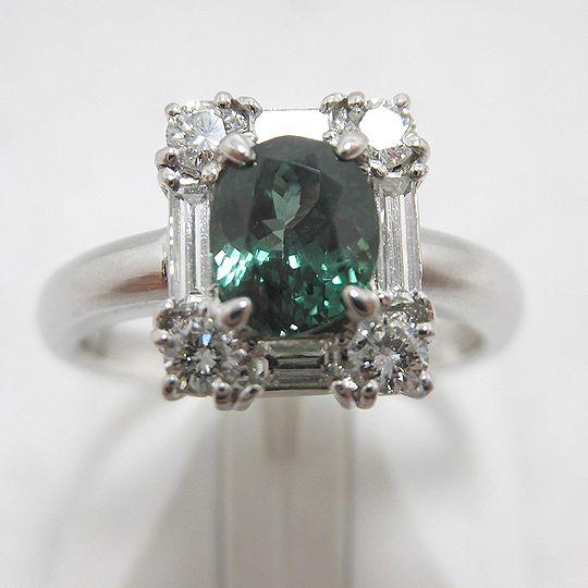 アレキサンドライトリング ダイヤモンド ジュエリー リング 指輪 PT プラチナ プレゼント 贈り物 ギフト 女性用 F6668