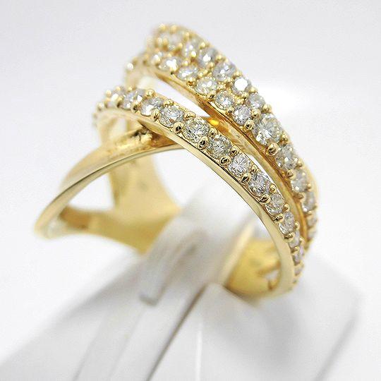 K18ダイヤリング イエローゴールド ダイヤモンド K18金 ジュエリー リング 指輪 プレゼント 贈り物 ギフト 女性用 G2424