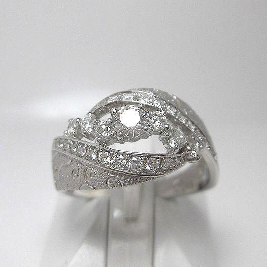 ダイヤモンドリング Pt900 ダイヤモンド0.211ct 0.45ct 女性用 レディース 贈り物 プレゼントG1797
