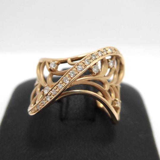 K18PGダイヤリング ダイヤモンド 0.17ct K18ピンクゴールド 指輪 ジュエリー 女性用 プレゼント 贈り物 G2843