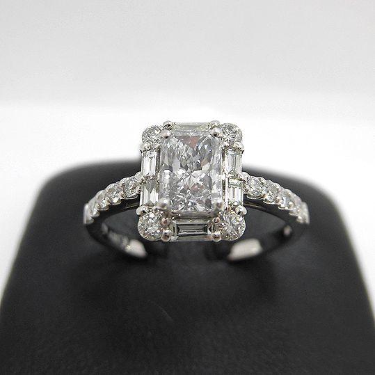 PTダイヤリング ダイヤ0.589CT プラチナ900 鑑定書付き 指輪 ジュエリー 女性用 プレゼント 贈り物 G1788