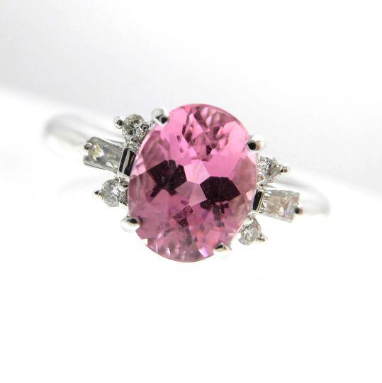 K18トルマリンリング ダイヤモンド 0.16ct トルマリン 1.50ct ジュエリー リング 指輪 プレゼント 贈り物 ギフト 女性用 オノ21178 30%OFF