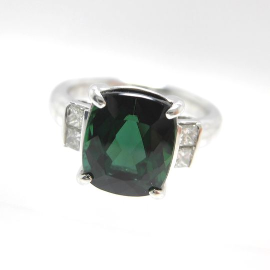 Ptトルマリンリング ダイヤモンド 0.26ct トルマリン 3.87ct ジュエリー リング 指輪 プレゼント 贈り物 ギフト 女性用 オノ20244 30%OFF