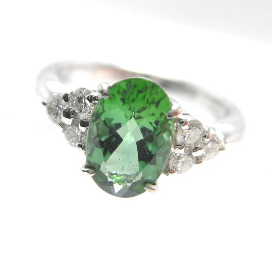 Ptトルマリンリング ダイヤモンド 0.30ct トルマリン 1.64ct ジュエリー リング 指輪 プレゼント 贈り物 ギフト 女性用 オノ22732 30%OFF