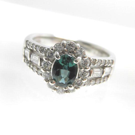 Ptアレキサンドライトリグ アレキサンドライト0.61ct ダイヤモンド 0.65ct F5051 ジュエリー 女性用 レディース プレゼント ギフト 送料込み 宝石 40%OFF