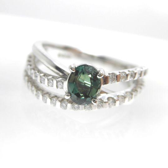 Ptアレキサンドライトリング ダイヤモンド 0.35ct アレキサンドライト 0.57ct ジュエリー リング 指輪 プレゼント 贈り物 ギフト 女性用 F5051 40%OFF