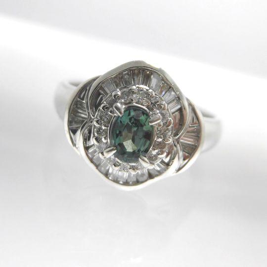 Ptアレキサンドライトリング ダイヤモンド 0.16ct アレキサンドライト 0.57ct ジュエリー リング 指輪 プレゼント 贈り物 ギフト 女性用 オノ14409 30%OFF