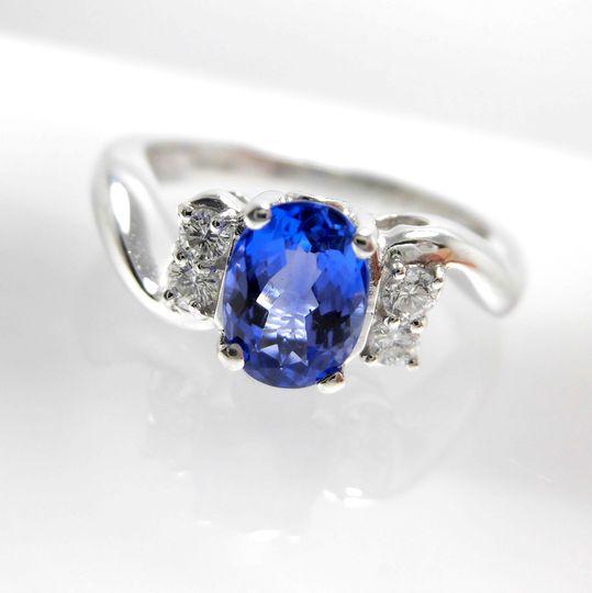 タンザナイトリング プラチナ ダイヤモンド ジュエリー リング 指輪 プレゼント 贈り物 ギフト 女性用 G1837 30%OFF