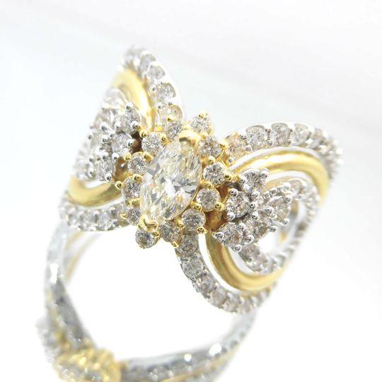 K18YG/WGダイヤモンドリング イエローゴールド ホワイトゴールド ダイヤモンド 0.311ct 1.03ct G3141 送料無料 30%OFF価格