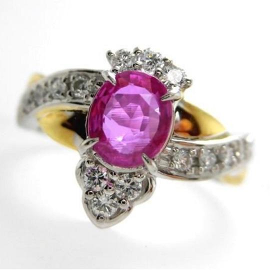 K18プラチナルビーリング ダイヤモンド 0.31ct ルビー 1.00ct ジュエリー リング 指輪 プレゼント 贈り物 レディース B8788