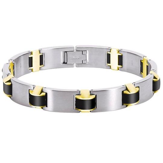 ROCHET ロシェ ORION ステンレス シリコンブラック ブレスレット メンズ B032587 20%OFF価格