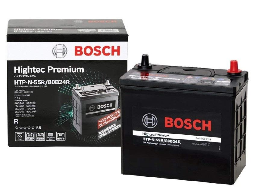 安心の長寿命!BOSCH ボッシュ 国産車用ハイテック プレミアム バッテリー HTP N-55R/80B24R