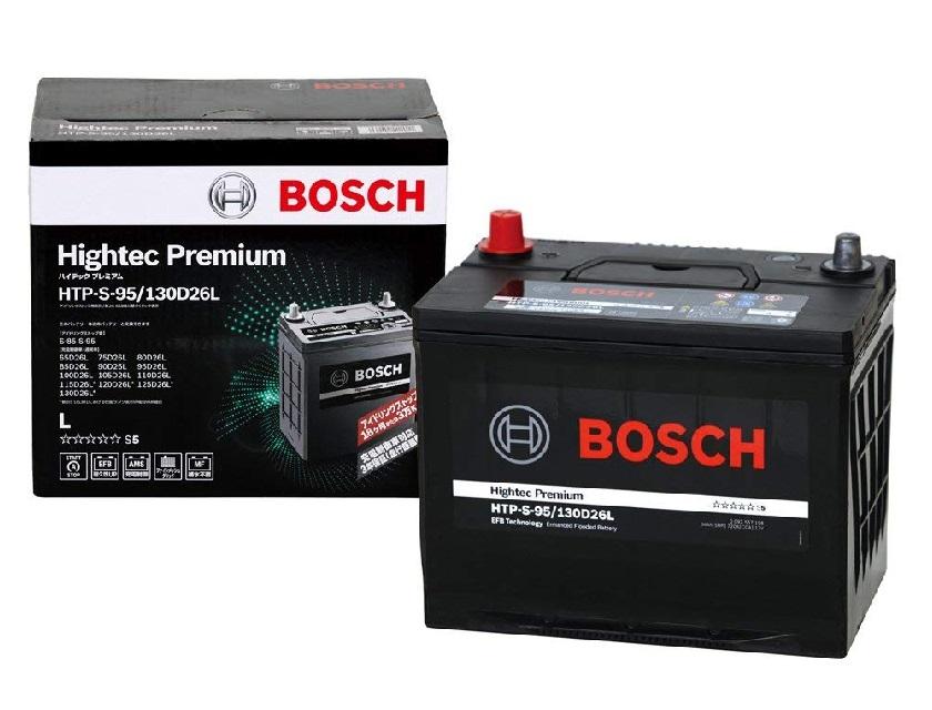 【送料無料】BOSCH ボッシュ 国産車用ハイテック プレミアム バッテリー HTP S-95/130D26L
