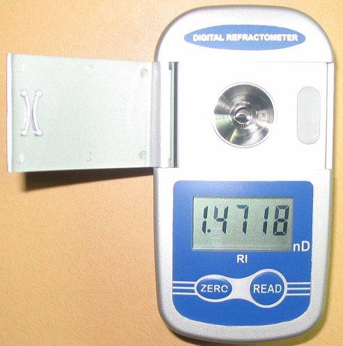 1年メーカー保証デジタルポケット型屈折率計ワイドレンジ屈折計5桁表示