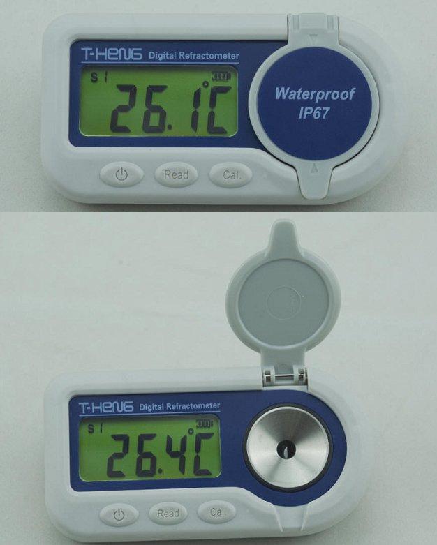 世界初リチウム電池内蔵IP67(JIS IPX7)防水設計デジタル車用屈折計比重計:クーラントバッテリーテスターポケット型屈折計丈夫なボディ設計