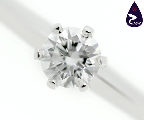 ティファニー Pt950 ダイヤリングD0.21ct 約3.5g【質屋出店】【掘り出しモノ】【ファッション】【ブランド】【質流れ】【中古】Y3T1R119052900