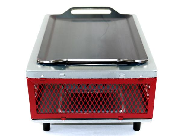 プロ仕様!極厚バーベキュー鉄板!BBQ・アウトドアの必須アイテム。 コールマン フォールディングクールステージテーブルトップグリル(レッド)専用グリルプレート 板厚4.5mm