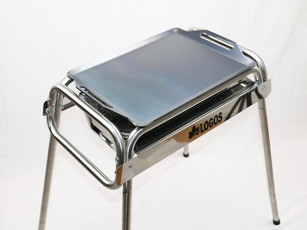 プロ仕様!極厚バーベキュー鉄板!BBQ・アウトドアの必須アイテム。 ロゴス Smart80 ステンチューブラル M・プラス専用グリルプレート 板厚9.0mm