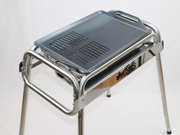 プロ仕様!極厚バーベキュー鉄板!BBQ・アウトドアの必須アイテム。 ロゴス Smart80 ステンチューブラル M・プラス専用グリルプレート 板厚4.5mm