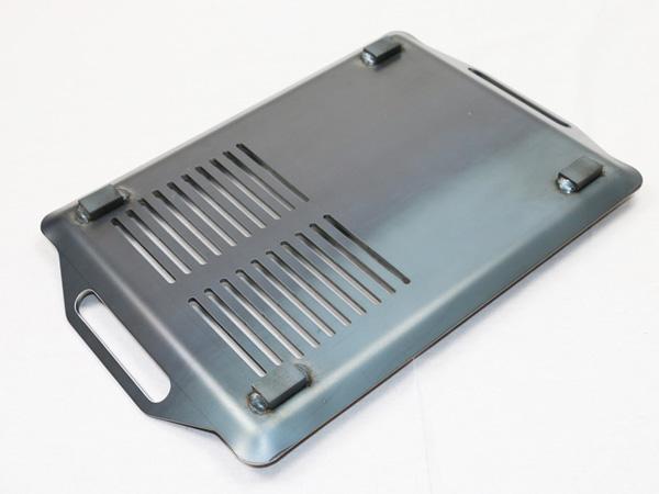 プロ仕様!極厚バーベキュー鉄板!BBQ・アウトドアの必須アイテム。 ロゴス Smart80 ステンチューブラル M・プラス専用グリルプレート 板厚6.0mm