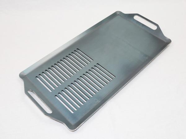 プロ仕様!極厚バーベキュー鉄板!BBQ・アウトドアの必須アイテム。 ロゴス Smart80 ステンチューブラル L・プラス(楽ちんカバーお試しパック)専用グリルプレート 板厚4.5mm