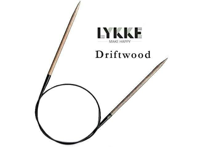 通常便なら送料無料 LYKKE輪針単品各種取り揃えております 数量は多 LYKKE Driftwood単品輪針 3号-5号