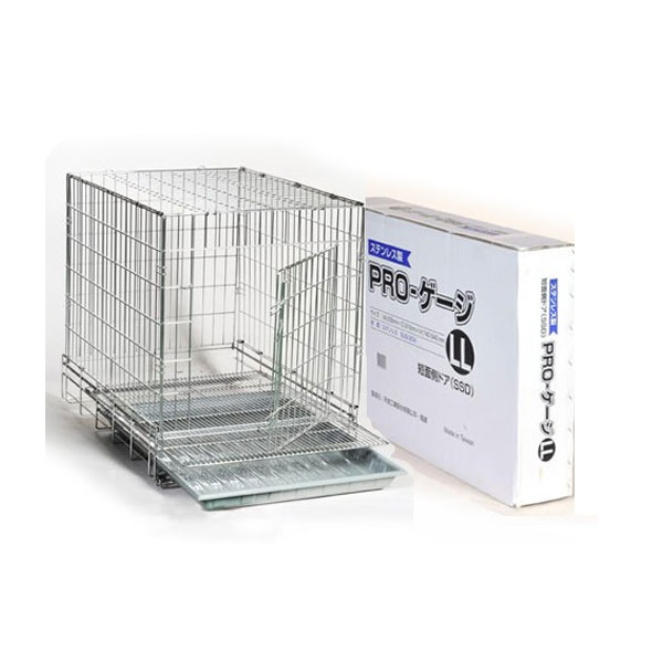 【犬用ケージ】PROステンレスケージ LL-SSD 短面扉(635mm×915mm×H740mm)【犬 ケージ 檻】【頑丈】【売れ筋商品】【プロユース商品】【人気】