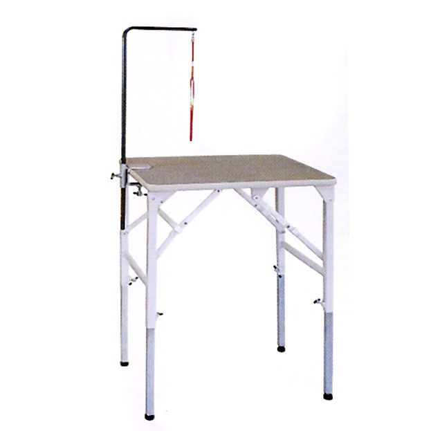 【純国産 高さ調節できるテーブル】トリミングテーブル アジャスト SX-MINI【万力式アームSセット付】  (W630×D450×H520mm~840mm)【サロン】【人気】【便利】【プロユース】