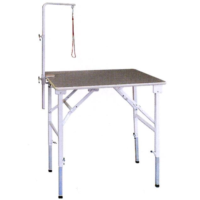 【純国産 高さ調節できるテーブル】トリミングテーブル アジャスト SX-L 【万力式アームLセット付】(W900×D600×H590mm~910mm)【サロン】【人気】【便利】【プロユース】