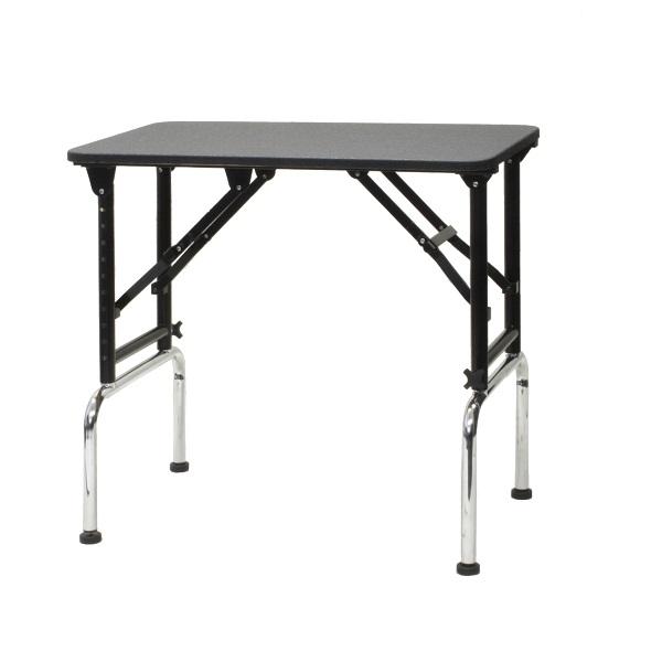 【高さ調節できるテーブル】ブラックアジャストテーブル 750 (W750×D450×H700mm~970mm)【サロン】【ブラックシリーズ】【プロ仕様】【人気】