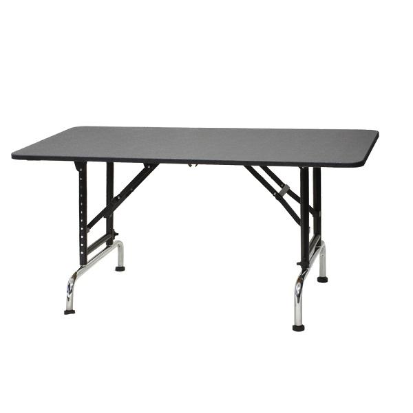 【高さ調節できるテーブル】ブラックアジャストテーブル 1200 (W1200×D600×H580mm~850mm)【サロン】【ブラックシリーズ】【プロ仕様】【人気】