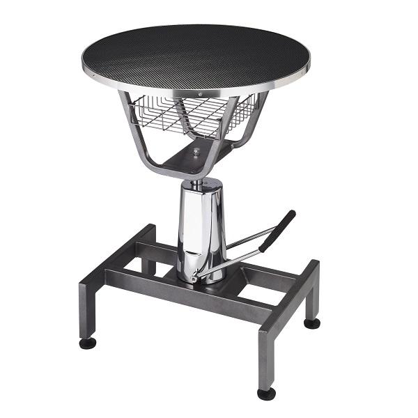 上げ下げが楽なトリミングテーブル 油圧式昇降機能付 ハイドリック 丸テーブル 直送商品 油圧式トリミングテーブル CN-20 プロユース 高性能 油圧テーブル ついに再販開始