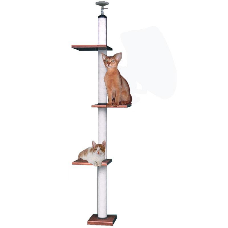 【キャットタワーのパイオニア】キティアスレチック LB-DX [天井高2m25cm~2m45cmまで対応] 代引き不可商品【猫 キャットタワー 猫タワー】【おすすめ】【頑丈】【ブリーダー推奨品】