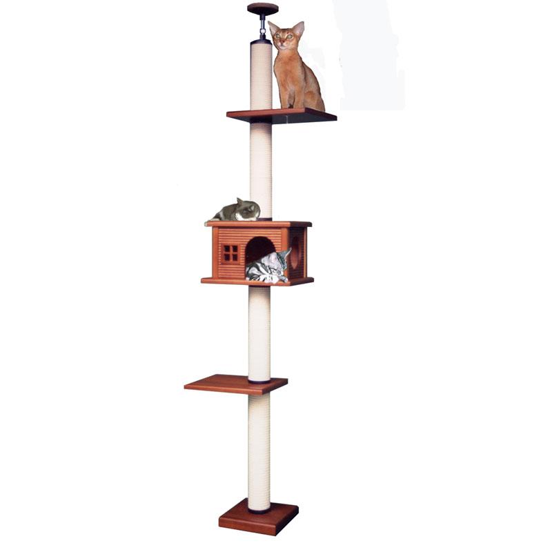 【キャットタワーのパイオニア】キティアスレチック LA-DX [天井高2m25cm~2m45cmまで対応] 代引き不可商品【猫 キャットタワー 猫タワー】【おすすめ】【頑丈】【ブリーダー推奨品】