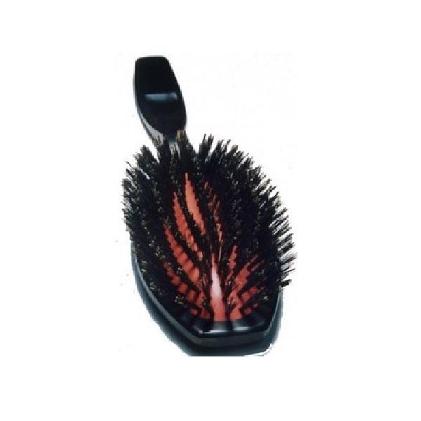 皮膚と被毛のマッサージ効果は様々な病気に対する予防効果を促します 国産高級ブラシ ふるさと割 GROOMER獣毛ブラシ 猪毛 ハード NO.213 柄付 賜物