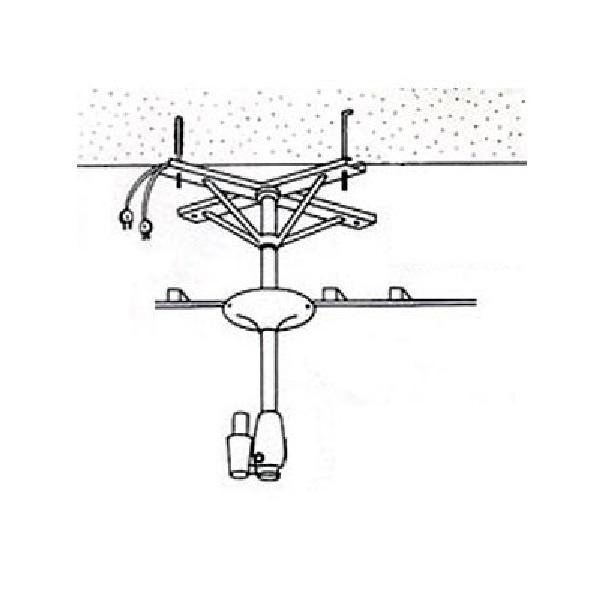 【アーム型ドライヤー用取付金具】ハチコウ アーム型ドライヤー用天吊金具Aアングル1台用